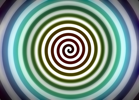 hypnotism: Psychedelic hypnosis swirl background optical illusion illustration