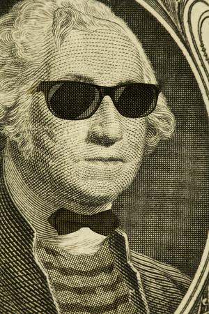 george washington: Seus inconformista empoll�n George Washington lleva gafas de sol