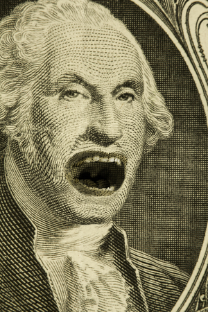 george washington: Emocional gritando George Washington, con expresi�n muy enojado