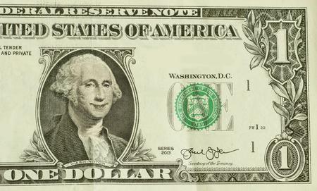george washington: Happy President George Washington smiles on dollar bill Foto de archivo