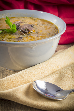 rich flavor: Authentic rich and creamy Hungarian mushroom soup with paprika flavor