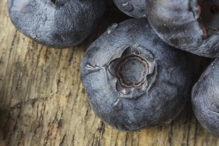 extreme close up: Extreme close up macro shot of fresh garden blueberries Stock Photo