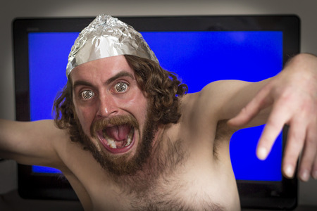 telepathy: Brain washed crazy man is hypnotized by television program