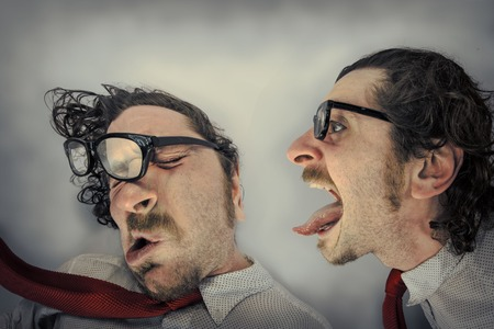 blown away: Angry twin blows away other twin by yelling in his ear