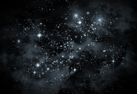 starscape: Giant universe starscape backdrop with colorful space clouds Stock Photo