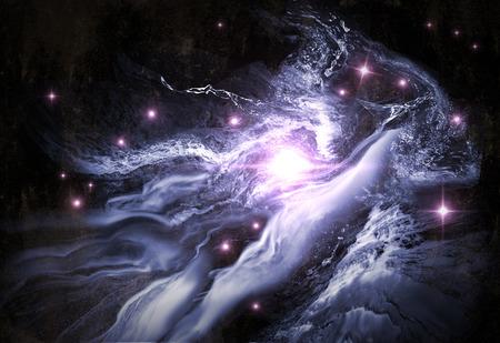 Giant heelal starscape 3D illustratie met kleurrijke ruimte wolken