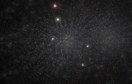 lyra: Lyra lyre constellation 3D illustration with colorful stars Stock Photo