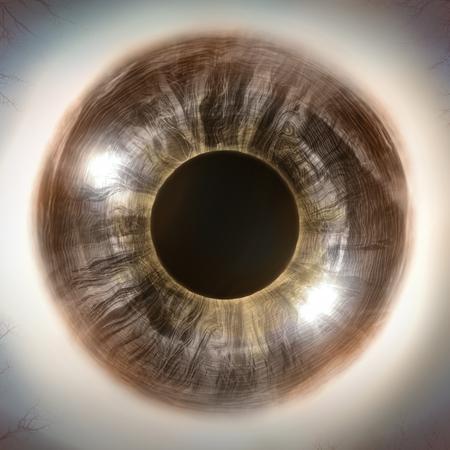 macro: Macro extreme close up human eyeball background, 3D Illustration