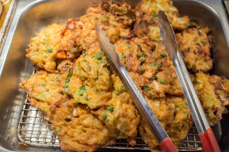 Chinese food buffet self service lunch or dinner Egg Foo Yung
