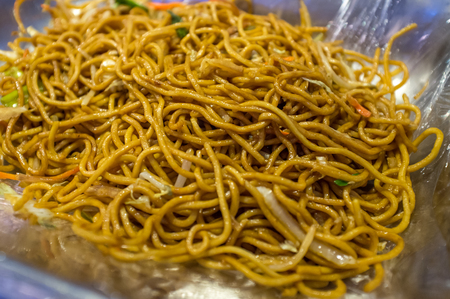 lo mein: Chinese food Lo mein buffet self service lunch or dinner Stock Photo