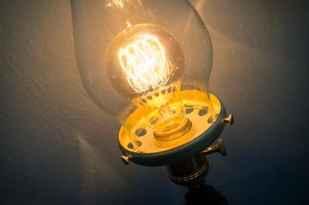 edison: Decorative antique edison style filament light bulb Stock Photo