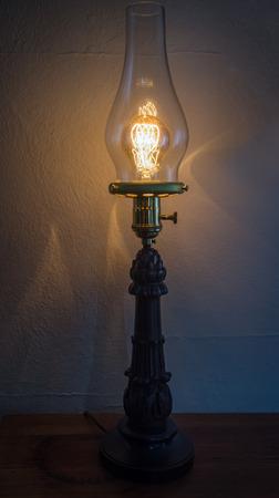 filament: Decorative antique edison style filament light bulb Stock Photo