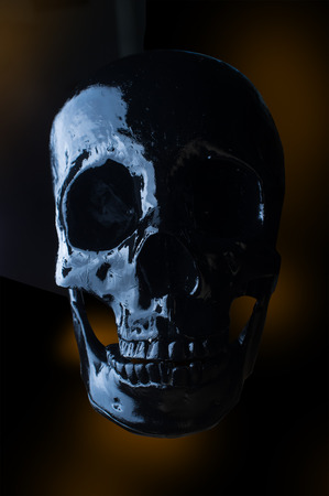 terrifying: Terrifying halloween skull for October holiday background Stock Photo