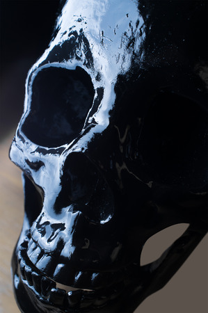 terrifying: Terrifying halloween skull for closeup October holiday background