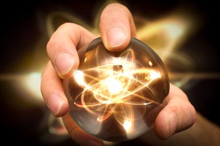 フォーチュン テラー マジック クリスタル ボールで原子を保持