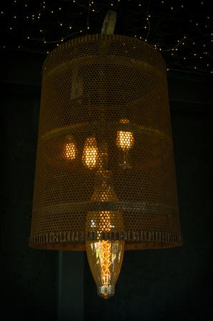 edison: Decorative antique edison style hanging light bulbs
