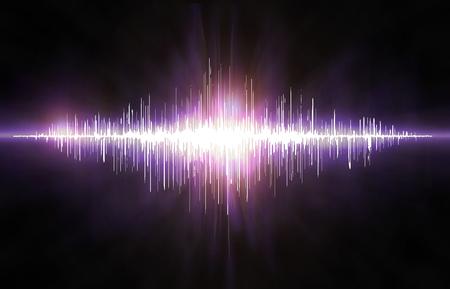 soundwave: Colorful visual neon soundwave 3D illustration abstract background