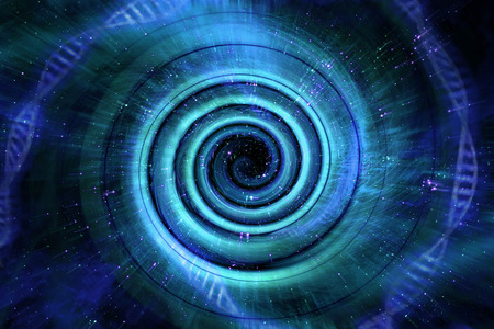우주 블랙홀 터널 공간 배경 3D 일러스트 레이션 스톡 콘텐츠