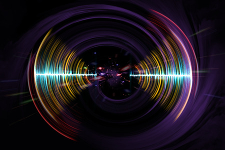 Visual neon soundwave concept 3D illustration abstract background Фото со стока