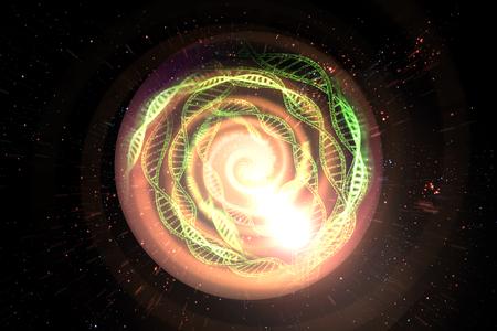 Universe black hole tunnel space background 3D Illustration Stock fotó