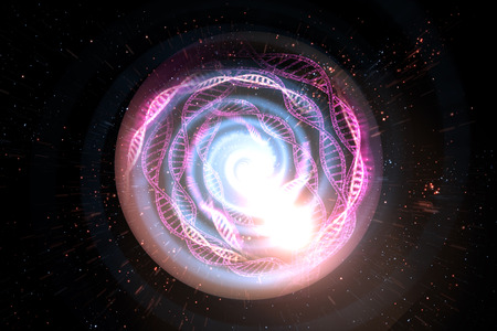 Universe black hole tunnel space background 3D Illustration Stock Photo