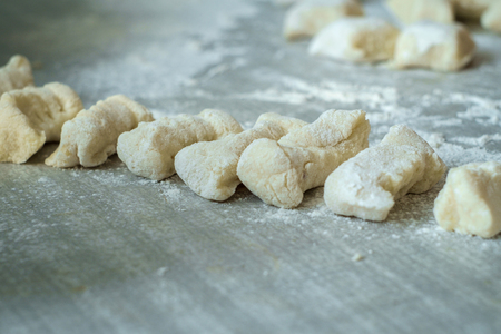 Making homemade Italian potato gnocchi from scratch