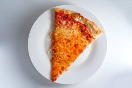 New York style plain slice of cheese pizza