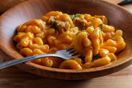 American goulash one pot meal cheesy beef and macaroni pasta