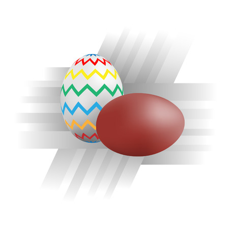 Illustration, vector, color picture on the Easter theme.