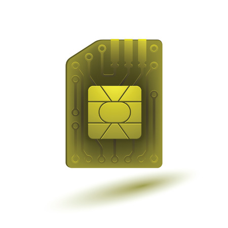 sim card: The image of the SIM card. Vector version of the file contains transparent objects.