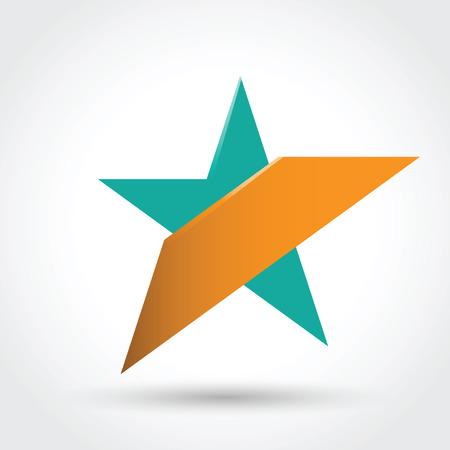 estrellas cinco puntas: Símbolo de la estrella. Vector de versión del archivo contiene los objetos transparentes. Puede editar completamente.