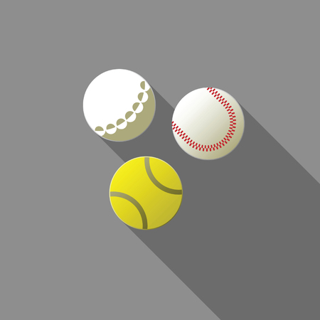 eps 8: Balls for tennis, golf and baseball. Vector EPS 8 version of the file is fully editable.