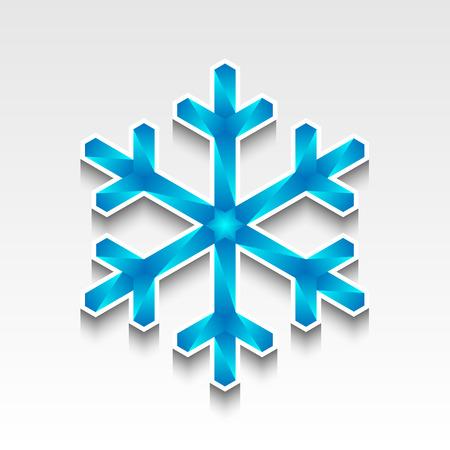 Sneeuwvlok van ijskristallen. Vector versie van het bestand is volledig aanpasbaar. Nr transparante objecten.