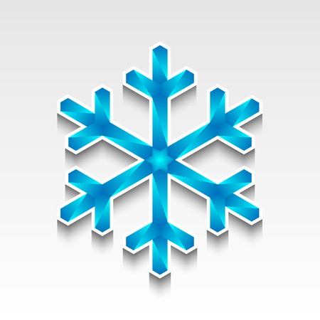 Snowflake of ice crystals. Vector version of the file is fully editable. No transparent objects.