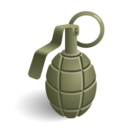 hand grenade: Hand grenade icon. Vector version