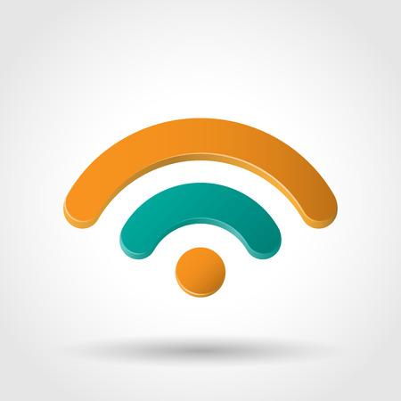 3d icons: WiFi icon. Symbol wireless network.