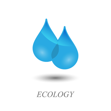 drops of water: Water drops. Ecology logo design.  Contains transparent objects.