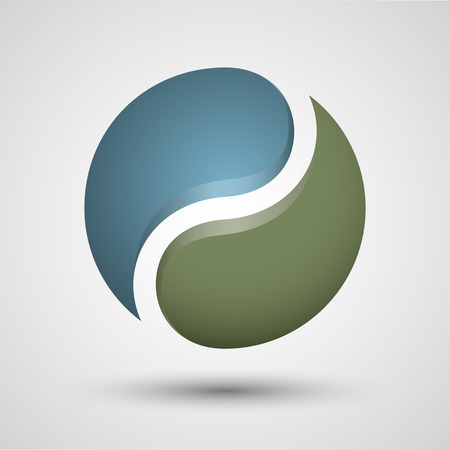 parity: Yin Yang symbol. Vector icon. Contains transparent objects.