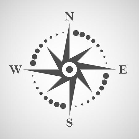 Icono de la brújula. Elemento de diseño de logotipo de navegación y viajes. No hay objetos transparentes.