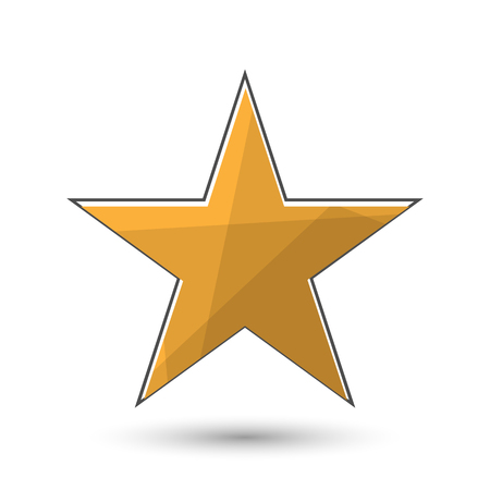Star icon. Five-pointed star symbol. It has clipping masks and transparent elements.