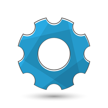 Gear icon. Industrial service symbol. It has clipping masks and transparent objects. Illustration
