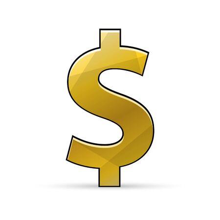 Simbolo del dollaro. Icona di valuta.