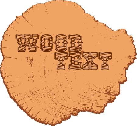 text on wood ring Illustration