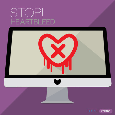 vulnerability: Heartbleed openssl bug vector shape, Stop Heartbleed