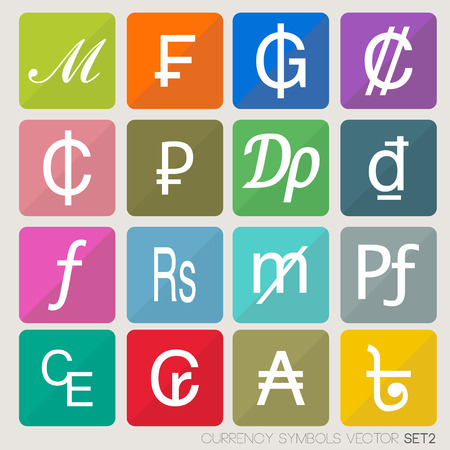 Currency icons set  currency symbols vector  world money
