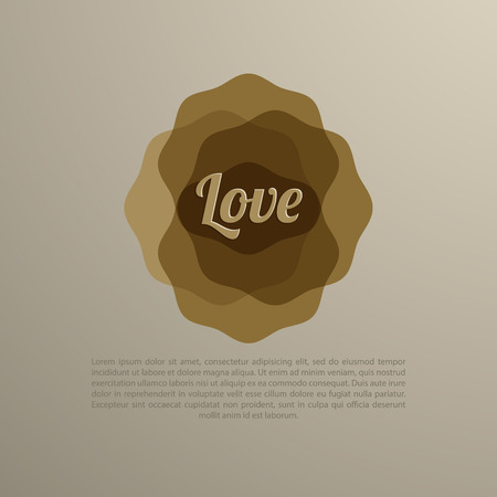 abstract design with Love text inside