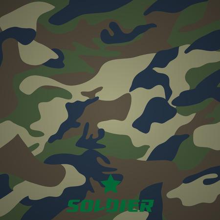 camouflage fabric pattern shape