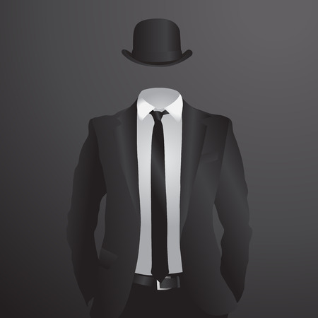 Male suit. Vector Illustration Illustration