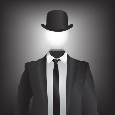 Black suit vector background with light bulb  Illustration