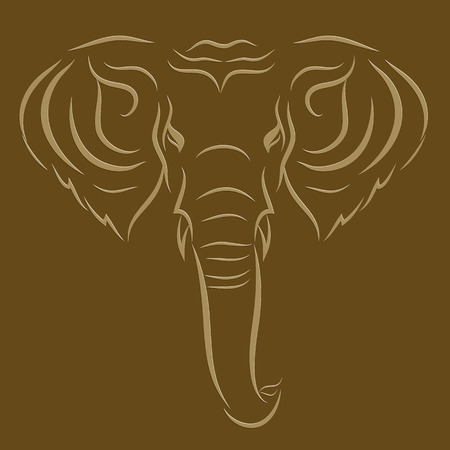 Tattoo elephant Vector